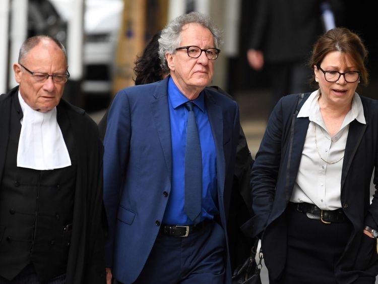 Geoffery Rush (middle) [Photo Credit: Sky News)