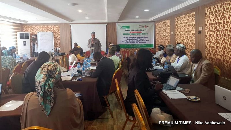 Participants at a one day meeting on updates to states on new national family planning policies and policy directions and update from states on family planning situation and innovations in Abuja on Thursday.