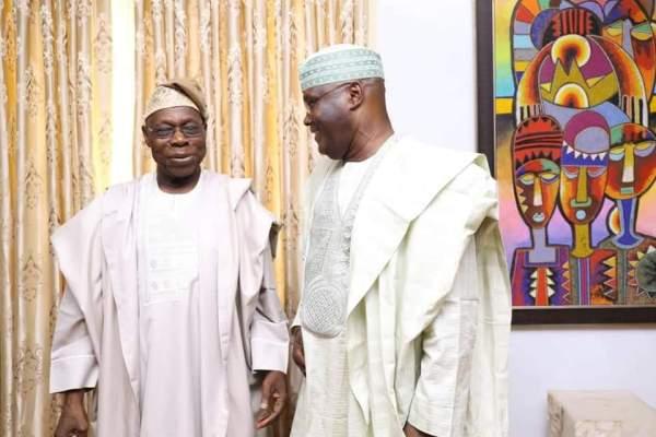 L-R Olusegun Obasanjo, Atiku Abubakar [Photo: @SaharaReporters]