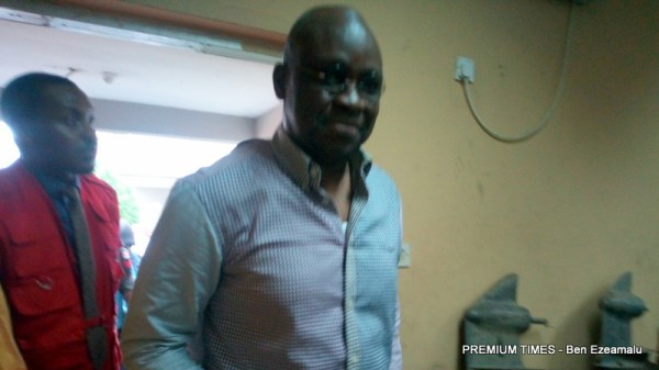 Former Ekiti governor, Fayose, arrives court for his criminal trial