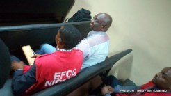 Former Ekiti governor, Fayose, arrives court for his criminal trial