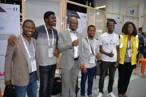 NITDA CEO, Isa Pantami in a group photograph with tech startup representatives sponsored to GITEX by NITDA