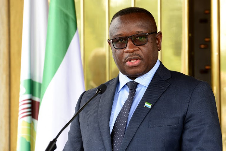 Sierra Leone president Julius Maada Bio. [PHOTO CREDIT: TimesLIVE]