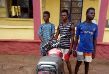 Police arrest three for allegedly killing commercial motorcyclist