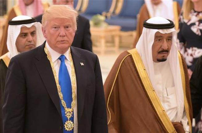 U.S. President Donald Trump with Saudi Arabia King Salman