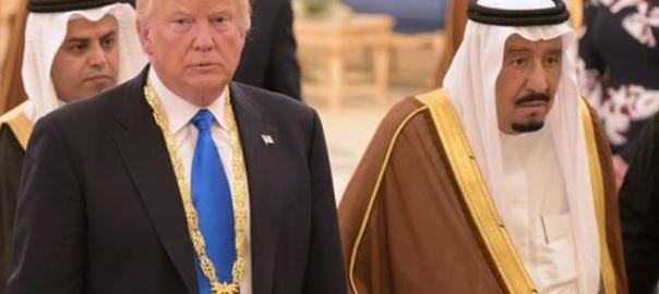 U.S. President Donald Trump with Saudi Arabia King Salman