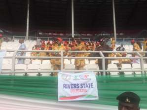 As at 2:49pm, Rivers State delegates are the first to arrive the venue.