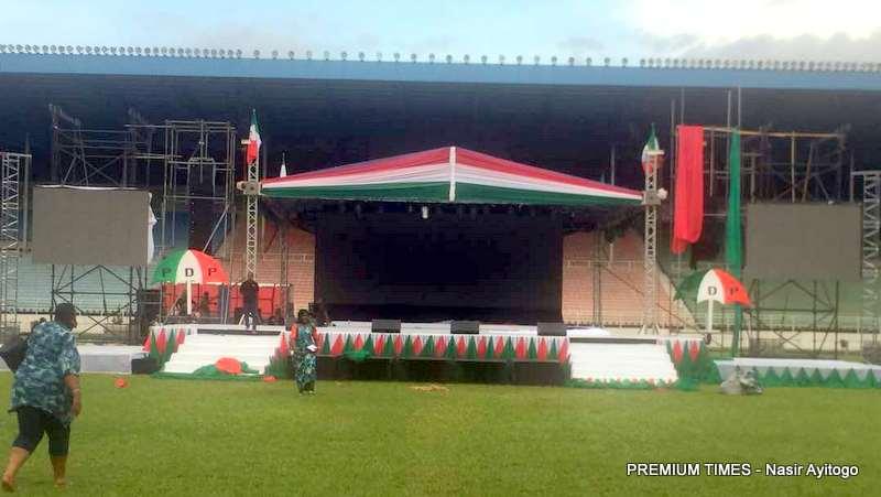 Aokiye Amiesimaka Stadium, venue of the PDP convention.