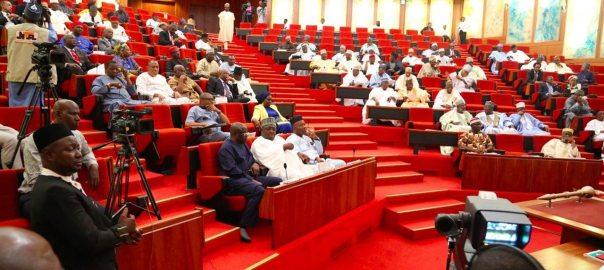 Nigerian senate chambers where senators attend plenary