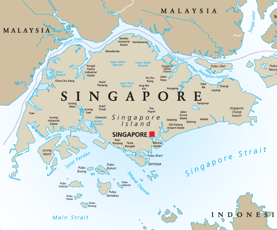 Singapore on map used to illustrate the story. [PHOTO CREDIT: Goway Travel]
