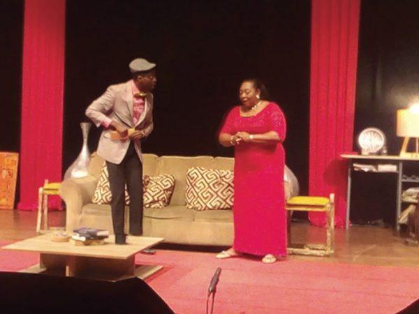 A scene from the satrical drama _The Comfab_