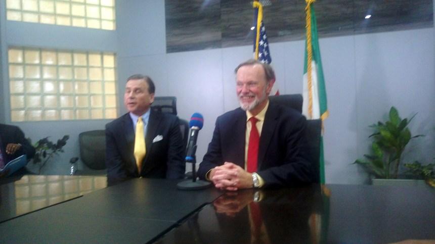 U.S. Assistant Secretary of State for African Affairs, Ambassador Tibor P. Nagy Jr and US Ambassador to Nigeria W. Stuart Symington.