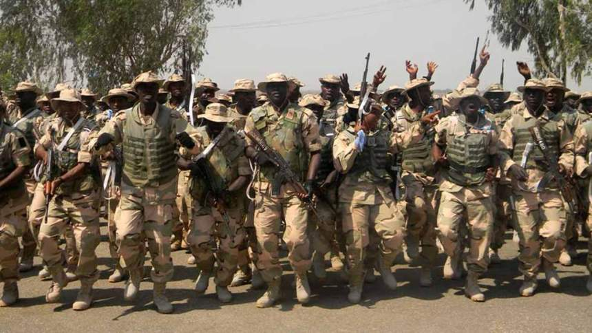 Nigerian troopsused to illustrate the story. [PHOTO CREDIT: The Guardian Nigeria]
