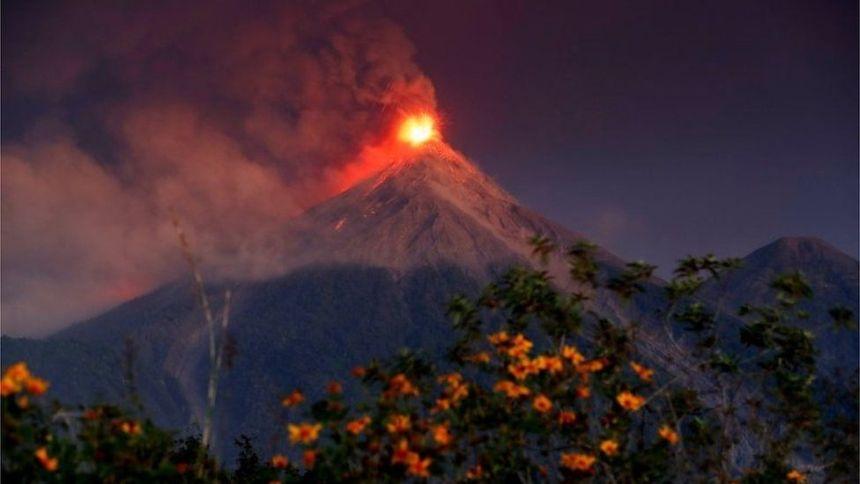 Volcanic eruption in Guatemala (Photo Credit: BBC)