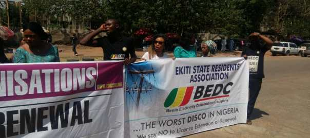 Groups protest renewal of power distribution firm's licence