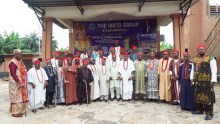 Members of the Anambra South Senatorial Traditional Rulers Forum after the press conference.
