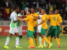 South Africa vs Nigeria. [PHOTO CREDIT: Goal.com]