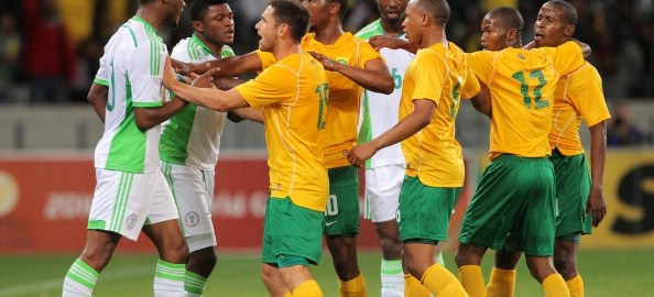 South Africa vs Nigeria. [PHOTO CREDIT: Goal.com]