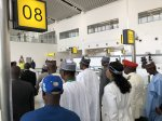President Muhammadu Buhari at the commissioning of the Abuja Airport International Terminal