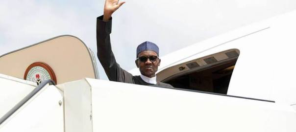 Buhari in Plane