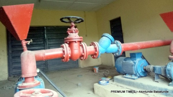 Pumping Machine left to ruin in Olode