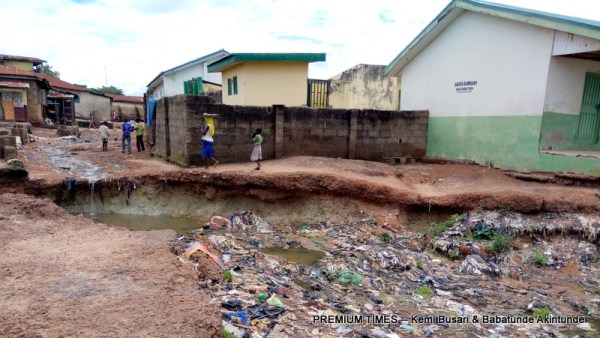 Erosion has taken away the only access road in the community