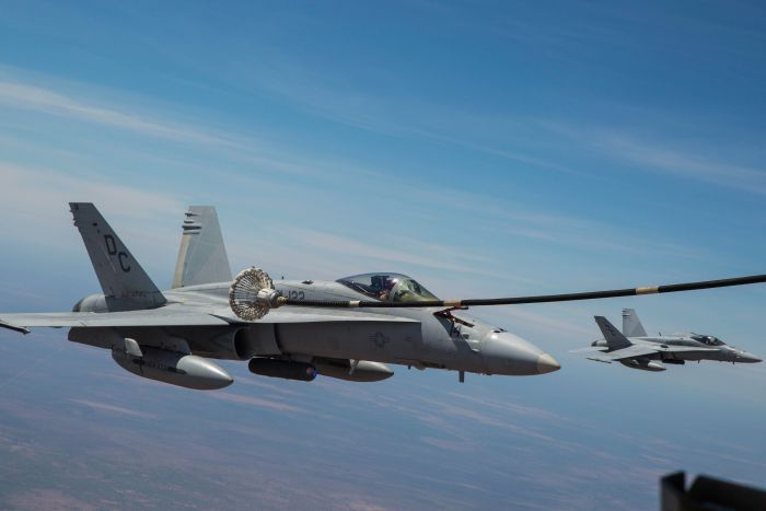 U.S Marine search and rescue jets captured in the air [Photo: ABC]