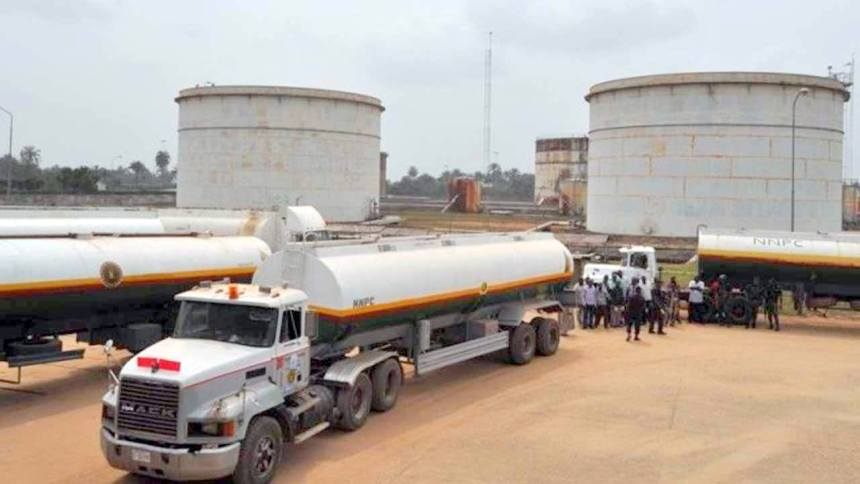 Tankers at a NNPC depot