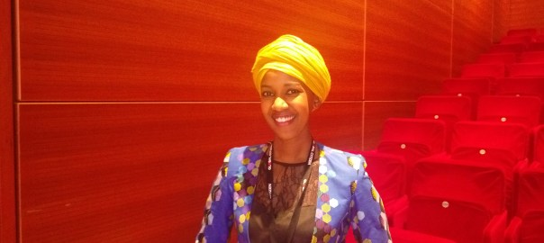 Tabitha Mparime recently in New York at the Global Citizen's Movement Maker Summit