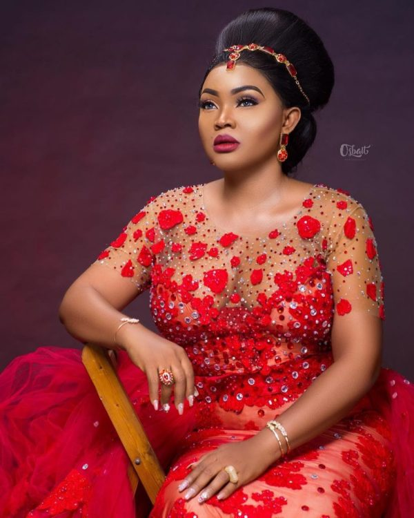 Mercy Aigbe's controversial red dress made news headlines in January 2018