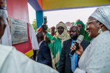 Mrs. Buhari commissions the Aisha Buhari Integrated school in Maiduguribuilt by Governor Kashim Shettima for children of Fulanis and Mbororojis, orphans and the girl child..jpeg (2)