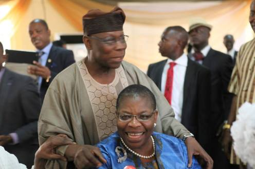 Oby Ezekwesili and Olusegun Obasanjo