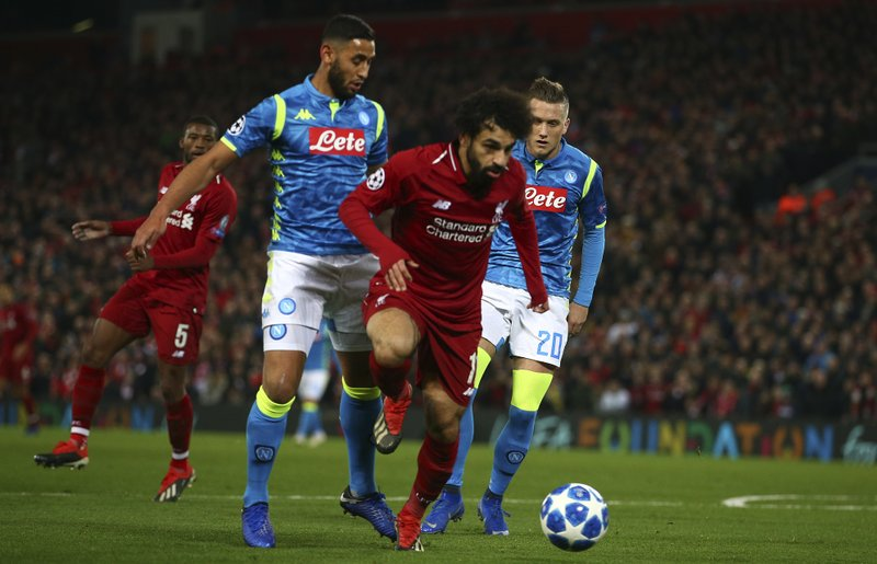Mohamed Salah in game with Napoli