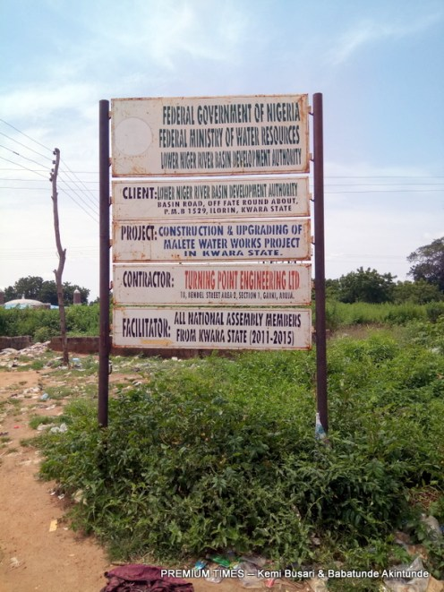 Signange for Malete water project