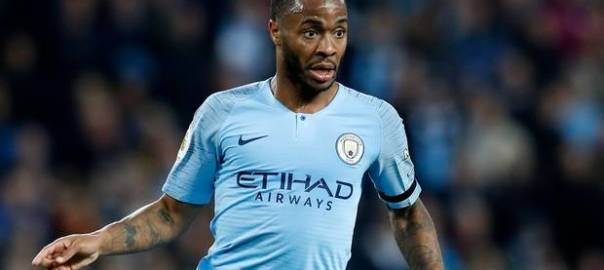 The England forward, Raheem Sterling