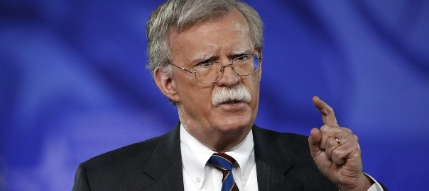 U.S. National Security Adviser, John Bolton. [PHOTO CREDIT: The Times of Israel]