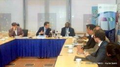 The Head of EU, Ketil Karlsen, the INEC chairman Mahmood Yakubu, and Founder of The Albino Foundation, Jake Epelle.