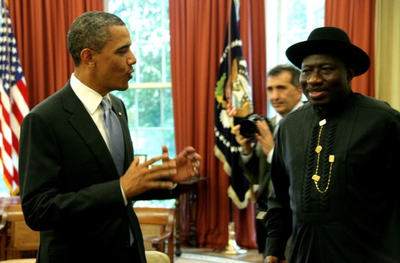 Former US President, Barrack Obama, and Ex Nigerian President, Goodluck Jonathan. [PHOTO CREDIT: Daily Post Nigeria]