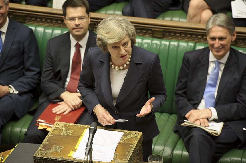 Theresa May in parliament [Photo: BBC]