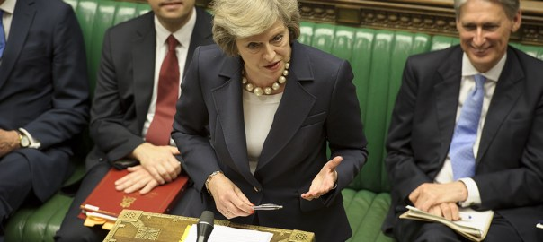 Theresa May in parliament [Photo: BBC]
