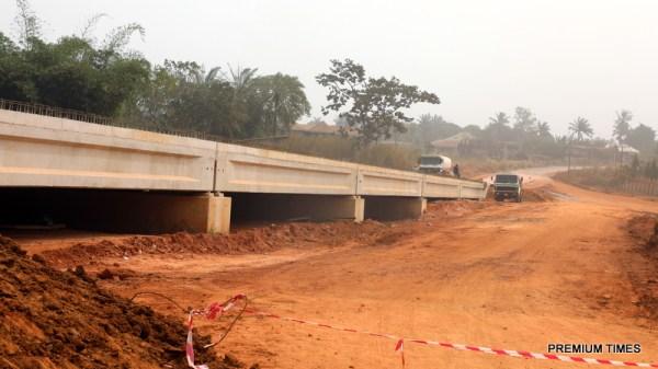 A bridge construction as part of the Enugu-Port Harcourt Expressway, Ogontu Interchange in Enugu West