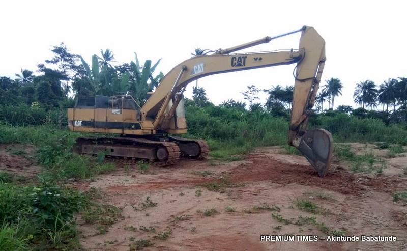 Equipment on Igbojaiye project site