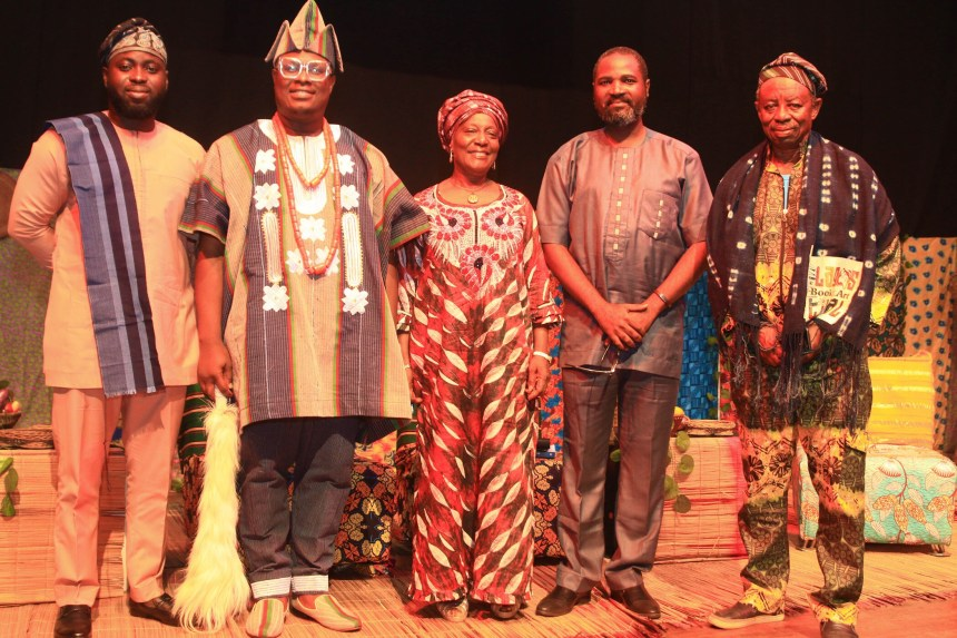 Guests and Panelists at the launch of the book Afonja – The Rise