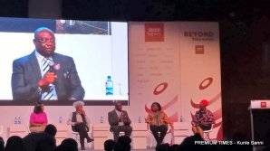 Panelists: Nobel laureate winner; Wole Soyinka, President of the Nigerian Guild of Editors; Funke Egbemode, founder of Bella Naija; Uche Pedro, the INEC chairman represented by chairman, information and voter education committee Festus Okoye and the Director BBC World Service Group, Jamie Angus.