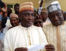 Baba Santali received APC membership card in his Local Government area, Kazaure Jigawa State on Friday