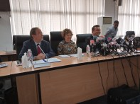 European Union Ambassadors visit Chairman of INEC in Abuja. [PHOTO CREDIT: LOIS UGBEDE]