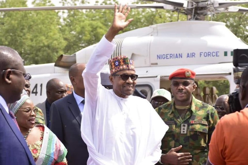 President Muhammadu Buhari at a rally in Kogi