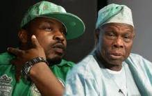 Rapper Eedris Abdulkareem and ex- President Olusegun Obasanjo