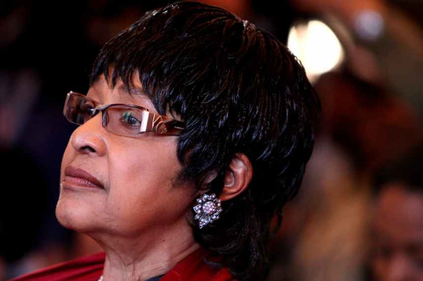 South African liberation struggle icon Winnie Madikizela-Mandela. EPA-EFE/Jon Hrusha