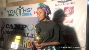 The winner, Campus Journalist Awards 2019, Maryam Abdullahi.